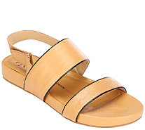 Isaac Mizrahi Live! Double Strap Leather Sandals - A264247