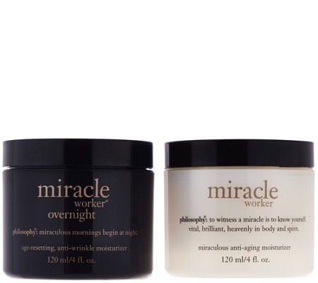 philosophy miracle worker moisturizer am/pm duo 4 oz.