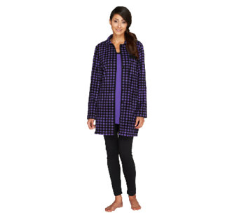 """As Is"" Carole Hochman Pajama Set w/ Jacket, Top and Leggings - A265947"