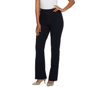 Isaac Mizrahi Live! Regular 24/7 Denim Boot Cut Full Length Pants - A270047