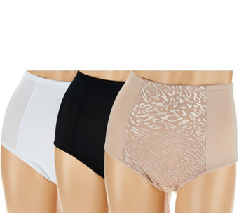 Breezies Safari Lace Full Coverage Smoothing Brief Set of 3 - A275347