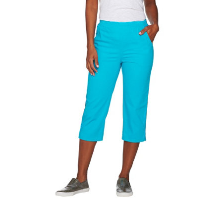 Denim & Co. 4 Pocket Pull-on Capri