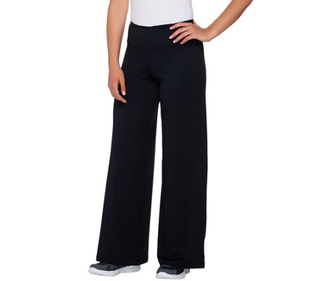 cee bee CHERYL BURKE Petite Pull-On Solid Flare Pants