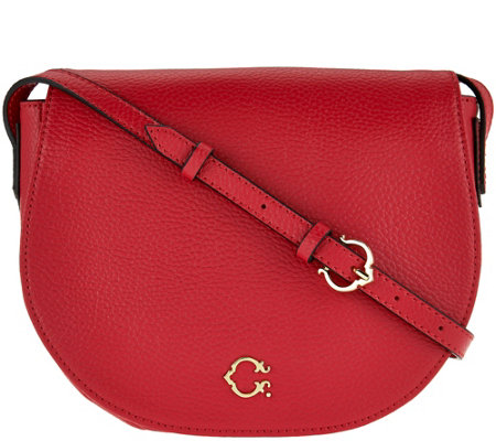 C. Wonder Pebble Leather Saddle Crossbody Handbag