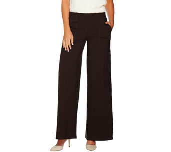 Women with Control Regular Wide Leg Pants with Pocket - A282047