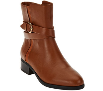 C. Wonder Tumbled Leather Mid-Calf Boots with Buckle - Alexis - A284147