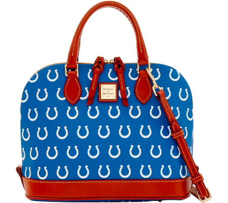 Dooney & Bourke NFL Colts Zip Zip Satchel