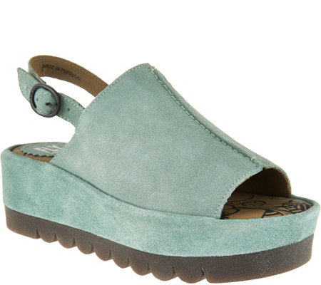FLY London Leather Platflorm Sandals - Bora