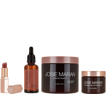 Josie Maran Whipped Argan Oil Butter-Full Skin & Body Care Set