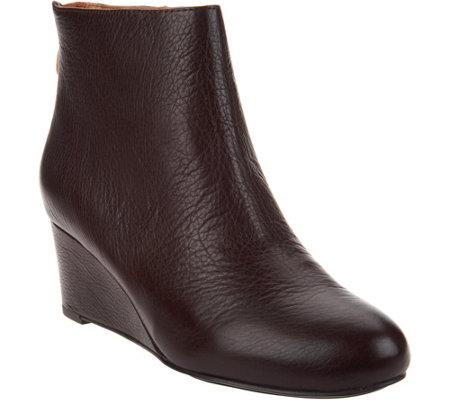 Gentle Souls Leather Wedge Ankle Boots - Vicki