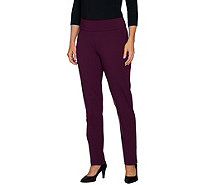 Linea by Louis Dell'Olio Petite Super Ponte Slim Leg Pant - A298447