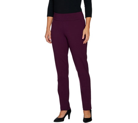 Linea by Louis Dell'Olio Petite Super Ponte Slim Leg Pant
