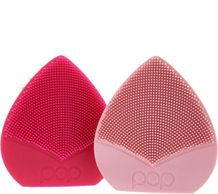 Pop Sonic Set of 2 Bud Travel Sonic Facial Cleansing Devices