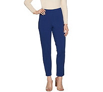 Joan Rivers Petite Signature Ankle Pants w/ Front Seam Detail - A300847