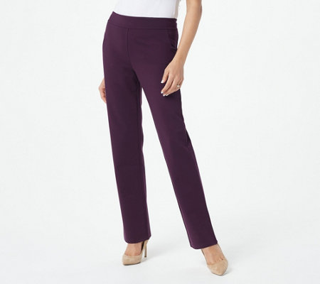 Linea by Louis Dell'Olio Petite Pull-On Super Ponte Knit Pants