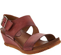 Miz Mooz Leather Wedge Sandals - Mariel - A304347