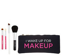Sigma Simply Blended Face & Eyes Brush Set with Makeup Bag - A305147
