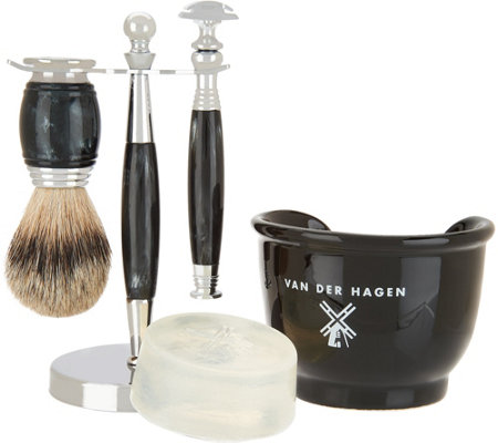 Van Der Hagen 5-piece Shave Set with Soap