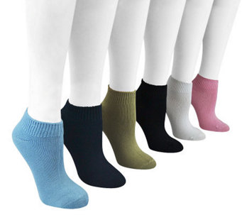 MUK LUKS 6 Pair Women's Rayon made from Bamboo No Show Socks - A331047