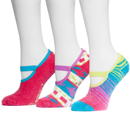 MUK LUKS Women's Aloe Mary Janes 3-Pair Sock Pack