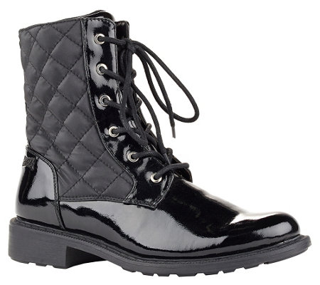 Cougar Waterproof Quilted Lace-up Boots - Jessy