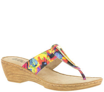 Bella Vita Leather or Fabric Thong Sandals - Sulmona - A339147