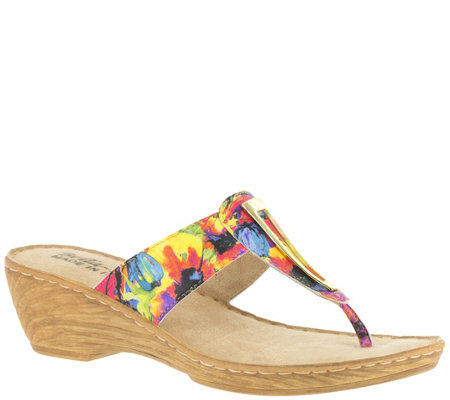 Bella Vita Leather or Fabric Thong Sandals - Sulmona