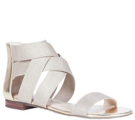 Sole Society Elastic Flat Sandals - Aggie