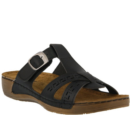Flexus by Spring Step Slide Sandals - Nery