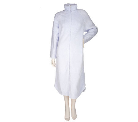 Stan Herman Powder Puff Plush Zippered Robe