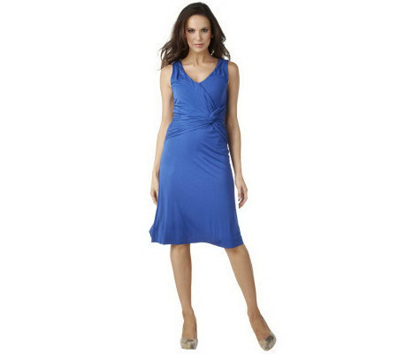 G.I.L.I. Sleeveless V-neck Faux Wrap Dress