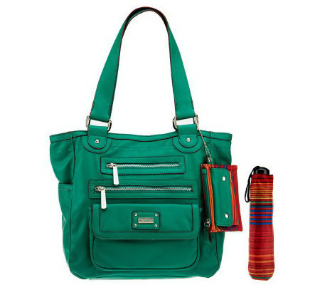 Tyler Rodan Tote Bag With Front Zipper Flap Pockets