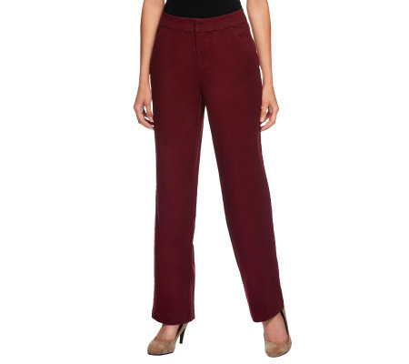 Liz Claiborne New York Jackie Straight Leg Twill Pants