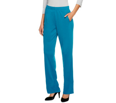 Susan Graver Milano Knit Regular Pull-on Full Length Pants