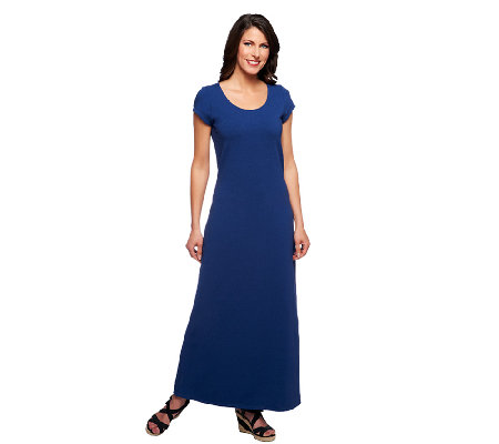Petite maxi dress short sleeves