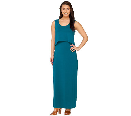 Lisa Rinna Collection Regular Knit Maxi Dress with Removable Top