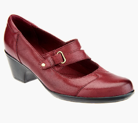"""As Is"" Clarks Leather Slip-on Mary Janes- Ingalls Siene"