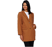 Isaac Mizrahi Live! Wool Blend Car Coat - A267448