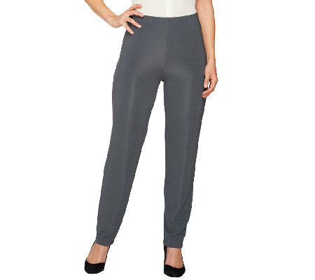 """As Is"" Susan Graver Lustra Knit Pull-On_No Waist Pants - Regular"
