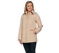 Dennis Basso Water Resistant Zip Front Anorak with Hood - A273748