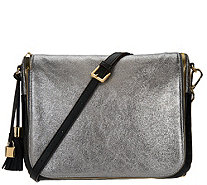 G.I.L.I. with HALOGUARD Leather Oversized RFID Crossbody - A274048