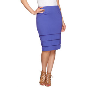 G.I.L.I. Pencil Skirt with Open Work Detail - A275548