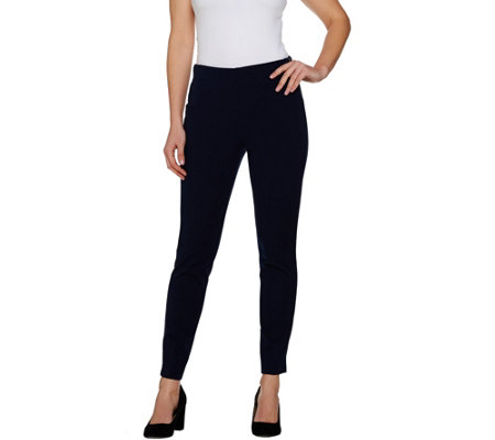 Kelly by Clinton Kelly Regular Pull-On Knit Pants with Side Zip