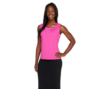 """As Is"" Joan Rivers_Wardrobe Builders(TM) Square Neckline Tank - A277148"