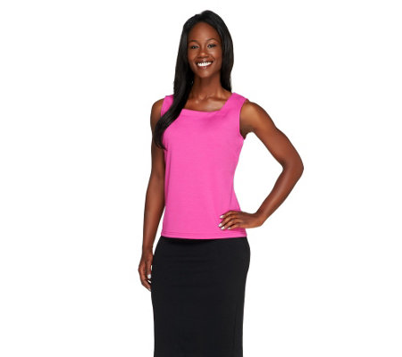"""As Is"" Joan Rivers_Wardrobe Builders(TM) Square Neckline Tank"