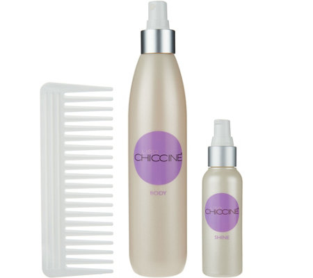 Lisa Chiccine Hair Care Body & Shine Hair Styling Set with Comb