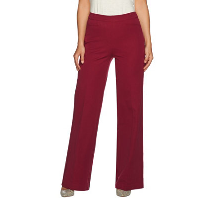 Isaac Mizrahi Live! Regular 24/7 Stretch Wide Leg Pants