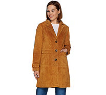 Isaac Mizrahi Live! Suede Button Front Duster Jacket - A280148