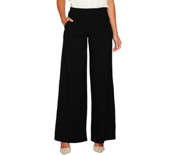 Women with Control Petite Wide Leg Pants with Pocket - A282048