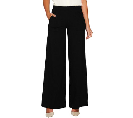 Women with Control Petite Wide Leg Pants with Pocket